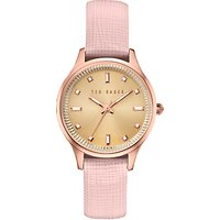 Ted Baker TE10030743 Womens Zoe Leather Strap Watch, Pink/Gold