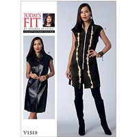Vogue Misses' Women's Tunic Dress Sewing Pattern, 1510