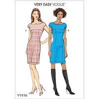Vogue Misses' Women's Princess Seam and Yoke Dress Sewing Pattern, 9196