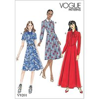 Vogue Womens Petite Dress Sewing Pattern, 9201