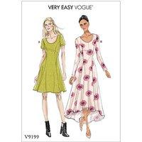 Vogue Women's Knit Dress Sewing Pattern, 9199