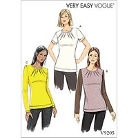 Vogue Women's Darted Top Sewing Pattern, 9205