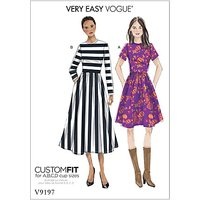 Vogue Womens Dress Sewing Pattern, 9197