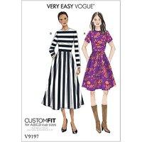 Vogue Women's Dress Sewing Pattern, 9197