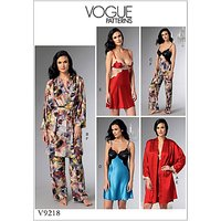 Vogue Misses' Women's Lingerie and Nightwear Sewing Pattern, 9218