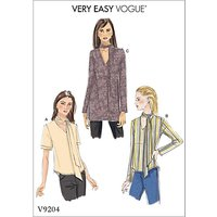 Vogue Women's V-Neck Top with Neck Ties Sewing Pattern, 9204