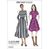 Vogue Womens Dress Sewing Pattern, 9197