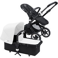 Bugaboo Buffalo Pushchair Base and Carrycot 2016, Black/Black