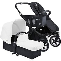 Bugaboo Donkey Base Pushchair Chassis and Carrycot 2016, Black/Black