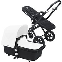 Bugaboo Cameleon3 Pushchair Base Unit and Carrycot, Black/Black