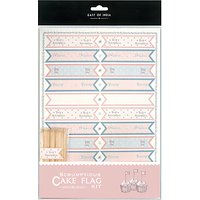 East of India Cupcake Tiny Flag Kit, Pack of 22