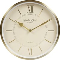 London Clock Company Heritage Wall Clock, Champagne Gold, Dia.25cm