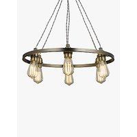 John Lewis Bistro Hoop Pendant Ceiling Light, 6 Light, Pewter
