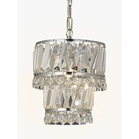 John Lewis Celeste Easy-to-Fit Pendant Ceiling Light, Crystal/Clear
