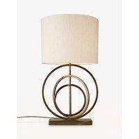 John Lewis & Partners Ainsley Sculptured Rings Lamp Base, Antique Brass