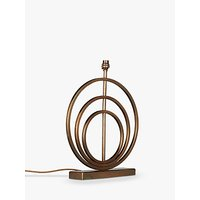 John Lewis & Partners Ainsley Sculptured Rings Lamp Base, Antique Brass, H41cm