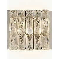 John Lewis Kelsey Single Cube Wall Light, Crystal Clear