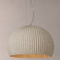 John Lewis Oscar Stone Ribbed Pendant Ceiling Light, Natural