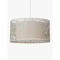 John Lewis Meadow Fretwork Shade Ceiling Light, Grey/White