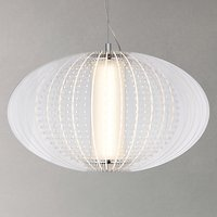John Lewis Nysa LED Pendant Ceiling Light, Clear