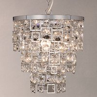 John Lewis Shakira Crystal Ceiling Light, Silver/Clear