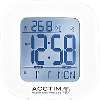 Acctim Sandby Radio Controlled Alarm Clock, White