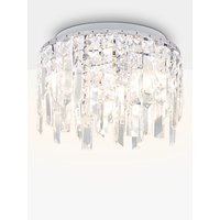 Illuminati Sophia Crystal Small Bathroom Light, Crystal Clear