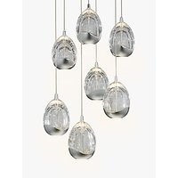 John Lewis Droplet LED Pendant Ceiling Light, 7 Light, Chrome