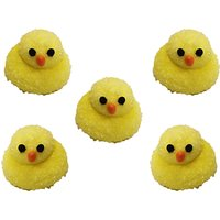 Creative Party Fluffy Chicks Sugarcraft Topper, Pack of 5