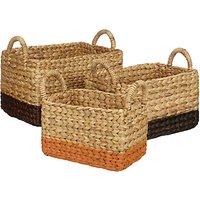 John Lewis Fusion Water Hyacinth Storage Baskets, Set of 3