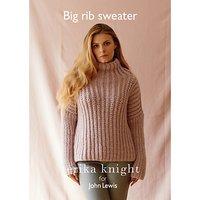 Erika Knight for John Lewis Women's Big Rib Sweater Knitting Pattern
