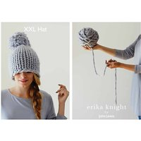 Erika Knight for John Lewis XXL Pom Pom Hat Knitting Pattern