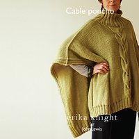 Erika Knight for John Lewis Womens Cable Poncho Knitting Pattern