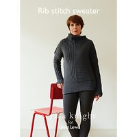 Erika Knight for John Lewis Women's Rib Stitch Sweater Knitting Pattern