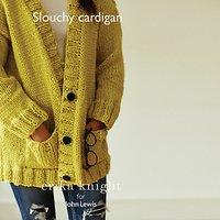 Erika Knight for John Lewis Women's Slouchy Cardigan Knitting Pattern