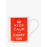 McLaggan Smith Keep Calm And Carry On Mug, Red