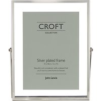 Croft Collection Floating Photo Frame, 5 x 7, Silver