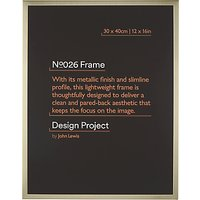 Design Project by John Lewis No.026 Metal Photo Frame, 30 x 40cm