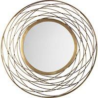 John Lewis Fusion Swirl Mirror, Brass, Dia. 82cm