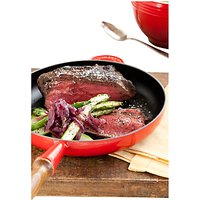 Le Creuset 26cm Cast Iron Frying Pan with Wood Handle
