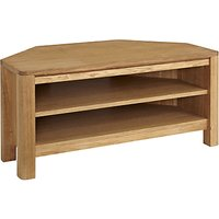John Lewis & Partners Seymour Corner TV Stand for TVs up to 43, Oak