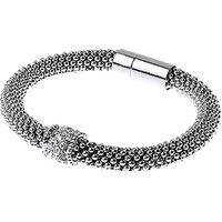 Adele Marie Fine Bead Pave Rope Bracelet, Silver