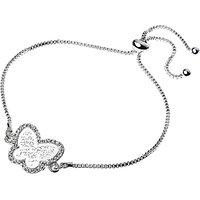 Adele Marie Filigree Butterfly Pave Set Adjustable Bracelet