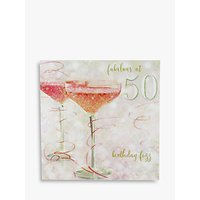 Woodmansterne Champagne 50th Birthday Card