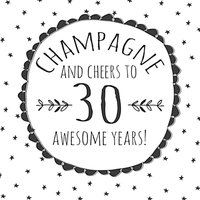 Hammond Gower Cheers To 30 Awesome Years Birthday Card