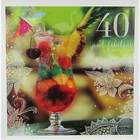 Woodmansterne Cocktail 40th Birthday Card