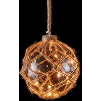 Hanging Jute Net LED Ball