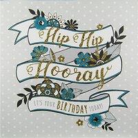 Rachel Ellen Secret Garden Hip Hurray Banner Birthday Card