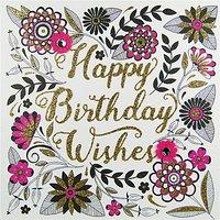 Rachel Ellen Secret Garden Birthday Wishes Card
