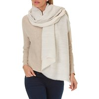 Betty & Co. Long Textured Scarf, Grey/Nature